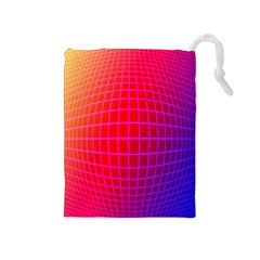 Grid Diamonds Figure Abstract Drawstring Pouches (Medium)