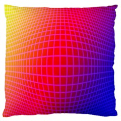 Grid Diamonds Figure Abstract Large Flano Cushion Case (One Side)