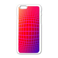 Grid Diamonds Figure Abstract Apple iPhone 6/6S White Enamel Case