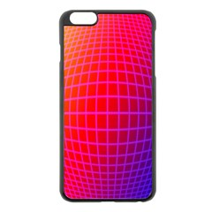 Grid Diamonds Figure Abstract Apple iPhone 6 Plus/6S Plus Black Enamel Case