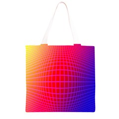 Grid Diamonds Figure Abstract Grocery Light Tote Bag