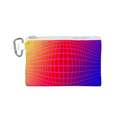 Grid Diamonds Figure Abstract Canvas Cosmetic Bag (S)