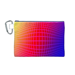 Grid Diamonds Figure Abstract Canvas Cosmetic Bag (M)
