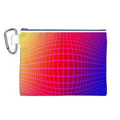 Grid Diamonds Figure Abstract Canvas Cosmetic Bag (L)