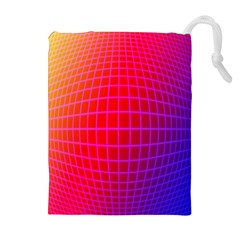 Grid Diamonds Figure Abstract Drawstring Pouches (Extra Large)