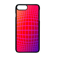 Grid Diamonds Figure Abstract Apple iPhone 7 Plus Seamless Case (Black)