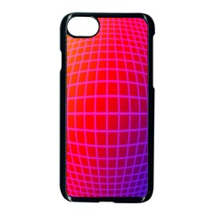 Grid Diamonds Figure Abstract Apple iPhone 7 Seamless Case (Black)
