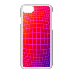 Grid Diamonds Figure Abstract Apple iPhone 7 Seamless Case (White)