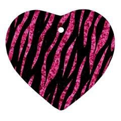SKN3 BK-PK MARBLE Ornament (Heart)