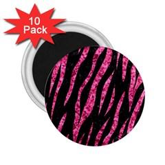 SKN3 BK-PK MARBLE 2.25  Magnets (10 pack)