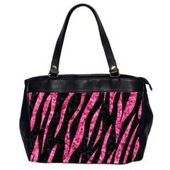SKN3 BK-PK MARBLE Office Handbags (2 Sides)