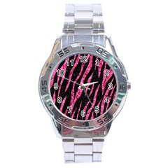 SKN3 BK-PK MARBLE Stainless Steel Analogue Watch