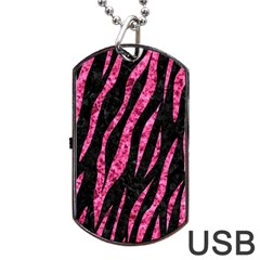 SKN3 BK-PK MARBLE Dog Tag USB Flash (Two Sides)