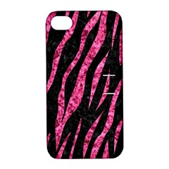 SKN3 BK-PK MARBLE Apple iPhone 4/4S Hardshell Case with Stand