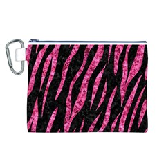 SKN3 BK-PK MARBLE Canvas Cosmetic Bag (L)