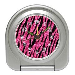 SKN3 BK-PK MARBLE (R) Travel Alarm Clocks