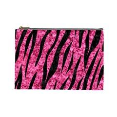 Skin3 Black Marble & Pink Marble (r) Cosmetic Bag (large)
