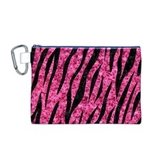 SKN3 BK-PK MARBLE (R) Canvas Cosmetic Bag (M)