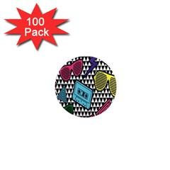 Glasses Cassette 1  Mini Magnets (100 pack)