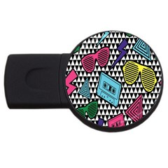 Glasses Cassette USB Flash Drive Round (1 GB)