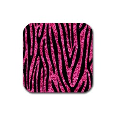 SKN4 BK-PK MARBLE Rubber Square Coaster (4 pack)