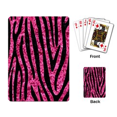 SKN4 BK-PK MARBLE Playing Card