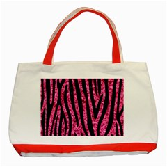 SKN4 BK-PK MARBLE Classic Tote Bag (Red)