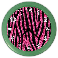 SKN4 BK-PK MARBLE Color Wall Clocks