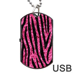SKN4 BK-PK MARBLE Dog Tag USB Flash (Two Sides)