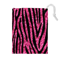 SKN4 BK-PK MARBLE Drawstring Pouches (Extra Large)