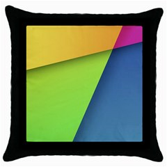 Lock Screen Throw Pillow Case (Black)