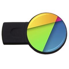 Lock Screen USB Flash Drive Round (2 GB)
