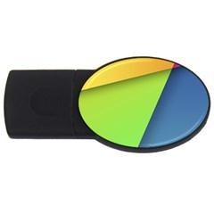 Lock Screen USB Flash Drive Oval (1 GB)