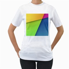 Lock Screen Women s T-Shirt (White)