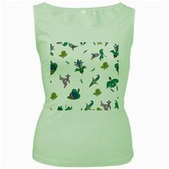 Leaf Women s Green Tank Top