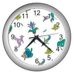Leaf Wall Clocks (silver)