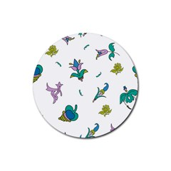 Leaf Rubber Coaster (Round)