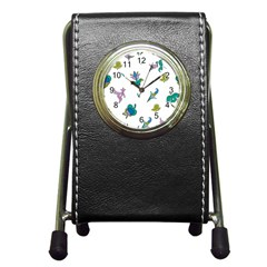 Leaf Pen Holder Desk Clocks
