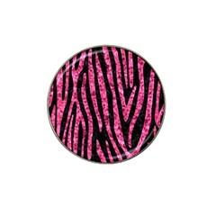 SKN4 BK-PK MARBLE (R) Hat Clip Ball Marker (10 pack)