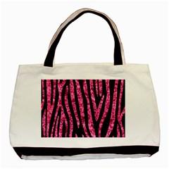 SKN4 BK-PK MARBLE (R) Basic Tote Bag