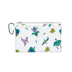 Leaf Canvas Cosmetic Bag (S)