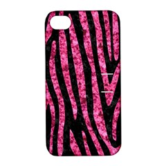 SKN4 BK-PK MARBLE (R) Apple iPhone 4/4S Hardshell Case with Stand