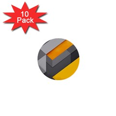 Marshmallow Yellow 1  Mini Buttons (10 pack)