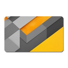 Marshmallow Yellow Magnet (Rectangular)