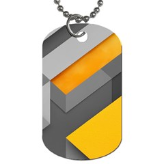 Marshmallow Yellow Dog Tag (One Side)