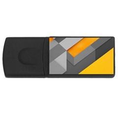 Marshmallow Yellow USB Flash Drive Rectangular (1 GB)