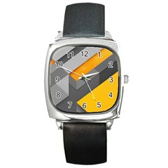 Marshmallow Yellow Square Metal Watch