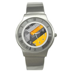 Marshmallow Yellow Stainless Steel Watch