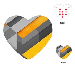 Marshmallow Yellow Playing Cards (Heart)