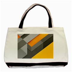 Marshmallow Yellow Basic Tote Bag (Two Sides)